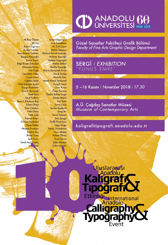 10. Uluslararası Kaligrafi ve Tipografi Etkinliği / 5 - 16 Kasım 2018 - NEWS - Banu Bulduk Türkmen Portfolio
